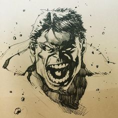 Hulk by Stephen Segovia #hulk #marvel #sketch
