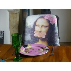 Mona lisa chair designed and upcycled in high quality printed fabric by Anthony Devine the ministry of upholstery, tv furniture from BBC money for nothing Retro Furniture, Home Decor Furniture, Fabric Dining Room Chairs, Luxury Dining Room, Take A Seat, Chair Design, Ministry, Printing On Fabric, Bbc