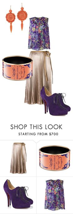 """""""Coral Gables"""" by aqualyra ❤ liked on Polyvore featuring Valentino, Christian Louboutin, Rochas, valentino, Louboutin and rochas"""