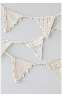 Doily Bunting, Bunting Template, Vintage Bunting, Bunting Garland, Bunting Flags, Fabric Bunting, Bunting Ideas, Buntings, Garlands