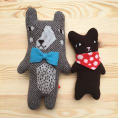 New friends! Meet Maurice and Bibi, new creatures by Donna Wilson now available at the little dröm store :)
