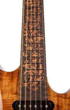 2013 Suhr Guitars Modern Carve Top fretboard inlay