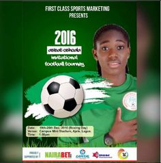 Super Falcons star giving back through football   The final of Asisat Oshoalas U-18 invitational football competition will hold on Monday December 26. The Super Falcons star hosts an annual football completion for U-18 women footballers in Lagos. The 2016 edition of the tournament kicked off on Wednesday December 21 while the semi-final and third place match were played the following day.  Asisat Oshoala sponsored football tourney (Instagram/Asisat Oshoala )    The final will be played on…