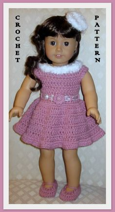 American Girl Clothes Patterns Free | Doll Clothes Crochet Pattern Fits 18 inch American Girl 21 | eBay