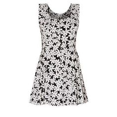 $22, White and Black Floral Skater Dress: Parisian New Look Parsian Monochrome Daisy Print Skater Dress. Sold by New Look. Click for more info: http://lookastic.com/women/shop_items/77186/redirect