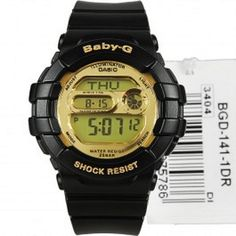 Available in Just @ $117.94 Browse Casio G-Shock watches for men & women at Direct bargains leading  online shopping store in Australia, Buy Casio BGD-141-1DR Baby-G Black Gold Digital Shiny Dial Sports Watch Model - BGD-141-1DR with best deals, offer, Your shaving $192.07. Shipping $8.00
