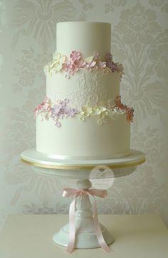 Summer Garden wedding cake | Flickr - Photo Sharing!      ᘡղbᘡ