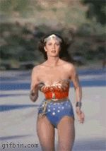 lynda carter, wonder women, stuff, wonderwomen, carter gif, wonderwoman, wonder woman, running, linda carter