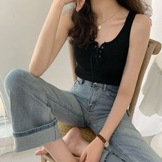 Korean Casual Outfits, Edgy Outfits, Mode Outfits, Cute Casual Outfits, Simple Outfits, Pretty Outfits, Korean Ootd, Korean Girl Fashion, Korean Fashion Trends