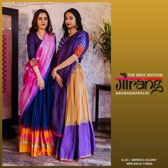 Image may contain: 2 people, people standing Half Saree Lehenga, Indian Lehenga, Anarkali, Pakistani Bridal Dresses, Indian Dresses, Ethnic Outfits, Indian Outfits, Kids Party Wear Dresses, Navratri Dress