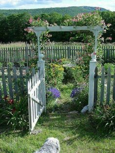 country house arbor and vegetable garden Veggy garden arbor