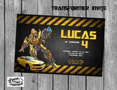 Transformers Invitation by Love this Moment Party