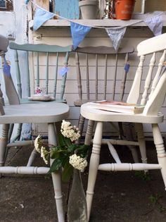 Beautiful Set Of 4 Vintage Mismatched Cottage/farmhouse ChairsMADE TO ORDER