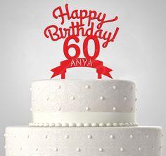 Happy Birthday EGYEDI NÉVVEL ÉS ÉVSZÁMMAL, tortadísz Silhouette Cake, Cake Toppers, Happy Birthday, Desserts, Food, Happy Brithday, Tailgate Desserts, Deserts, Urari La Multi Ani
