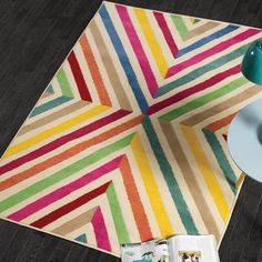 The retro inspired rugs would make a stunning focal point in a room. Chevron Rugs, Floor Ceiling, Modern Rugs, Kids Room, Colours, Cream, Retro, Tableware, Pattern