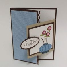 The Joy Fold card Joy Fold Card, Fun Fold Cards, Cool Cards, Tarjetas Pop Up, Shaped Cards, Card Tutorials, Card Sketches, Flower Cards, Creative Cards