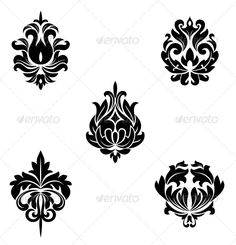 Floral Patterns #GraphicRiver Black flower patterns for design and ornate. Editable EPS8 (you can use any vector program) and JPEG (can edit in any graphic editor) files are included SPORTS MASCOTS MEDICINE FOOD LABELS WEDDING DESIGN ELEMENTS FLORAL OBJECTS WEB ICONS ANIMALS Created: 5January13 GraphicsFilesIncluded: JPGImage #VectorEPS Layered: No MinimumAdobeCSVersion: CS Tags: abstract #antique #background #baroque #damask #decoration #design #elegance #floral #flourishes #flower…