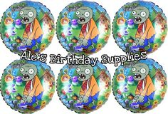 (6) Pc Plants vs Zombies Birthday Balloons Party Supplies | Home & Garden, Greeting Cards & Party Supply, Party Supplies | eBay!