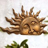Found it at Wayfair - Half Sun Wall Plaque