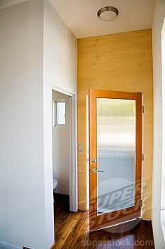frosted glass front door