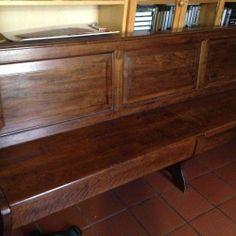 Causa trasloco vendo cassapanca con schienale in legno noce  massello.