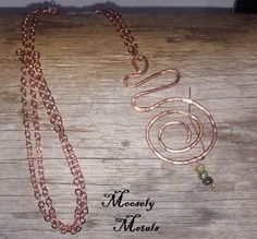 Handcrafted copper necklace