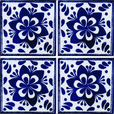 MOSAICOS DE TALAVERA / Azulejos de Talavera 10x10cms (90 piezas) - Estilo AZ010