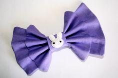 """""""Lilac Bunny"""" bow (custom made) from Sincerely, Maeko!    http://sincerelymaeko.storenvy.com"""