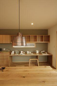 キッチンうしろ壁紙 Japanese Interior, Contemporary Interior, Interior Styling, Interior Decorating, Interior Design, Sofa Design, Furniture Design, A Frame House Plans, New Kitchen Designs
