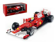 Hot wheels 2010 F.Massa F10 Bahrain GP Ferrari Team F1 1/18 Diecast Model Car by Hotwheels - Diecast model car of 2010 F.Massa F10 Bahrain GP Ferrari Team F1 die cast car by Hotwheels. Has steerable wheels. Brand new box. Rubber tires. Made of diecast with some plastic parts. Detailed interior, exterior, engine compartment. Dimensions approximately L-10, W-4, H-2.5 inches.-Weight: 4. Height: 8. Width: 15. Box Weight: 4. Box Width: 15. Box Height: 8. Box Depth: 7