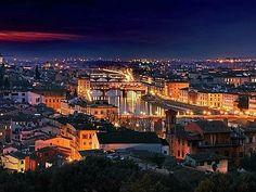 """Firenze veduta dei ponti """"notturna""""."""