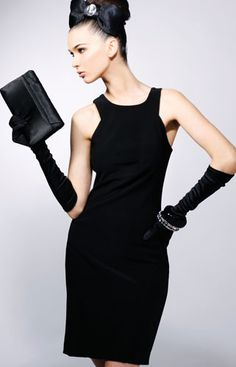 motherly black little black dress.