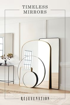 Lighting Classic and modern mirror designs in a variety of sizes and metal finish options. Living Room Mirrors, Living Room Decor, Modern Farmhouse Decor, Modern Decor, Modern Mirror Design, Diy Pet, Spiegel Design, Spacious Living Room, Interior Design Living Room