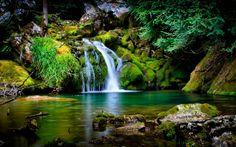 Beauty Little Waterfall Wallpaper