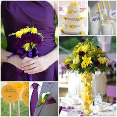 Purple and Yellow Inspiration Board