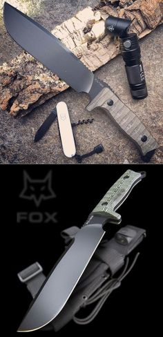 Fox Knives Combat Jungle Fixed Blade Knife. The Combat Jungle fixed blade from Fox Knives carries its blade weight to the tip, making it a chopping force to be reckoned with in the jungle and elsewhere.