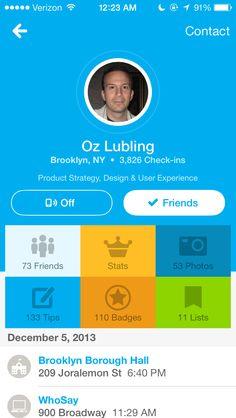 个人信息-Foursquare
