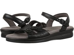 SAS Duo   Zappos.com Ankle Strap, Personal Style, Shoes Heels, Footwear, Pairs, Sandals, Pressure Points, Leather, Black