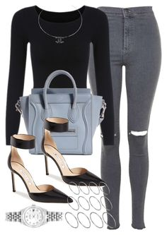 """""""Style #9428"""" by vany-alvarado ❤ liked on Polyvore featuring Topshop, Chanel, Manolo Blahnik, ASOS and Rolex"""