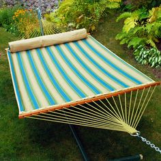 Quilted Hammock in Forest & Sand