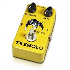 JOYO JF-09 Tremolo Guitar Effect Pedal - This pedal is simple to use and does exactly what it says on the tin. It has the flexibility to give you a subtle atmospheric 'wobble' all the way through to that 'how soon is now' stutter. Try plugging it in the chain BEFORE your distortion for some great trem effects that fade in as the guitar's natural sustain decays.