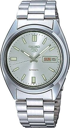 Seiko Men's SNXS73K Seiko 5 Stainless Steel Siver Dial Watch ** This is an Amazon Associate's Pin. Click this Amazon Affiliate link to review more details.