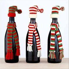 Ideia Garrafas Decoradas para o Natal 14
