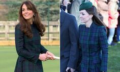 Duchess Kate's style: Top 20 recycled outfits  Fashion-forward Kate sported this Alexander McQueen green tartan coat to attend a Christmas Day service in Sandringham and also to re-visit her old prep school in Berkshire.