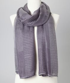 Gray Mixed Knit Scarf | Daily deals for moms, babies and kids