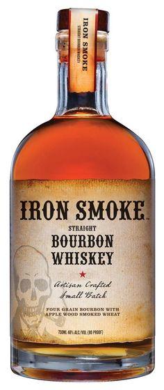 Iron Smoke Apple Wood Smoked Straight Bourbon Whiskey - Iron Smoke Straight Bourbon Whiskey won Double Gold at 2017 North American Bourbon & Whiskey Compet - Bourbon Whiskey, Scotch Whisky, Smoked Whiskey, Cigars And Whiskey, Whiskey Drinks, Whiskey Bottle, Apple Bourbon, Whiskey Distillery, Whiskey Decanter