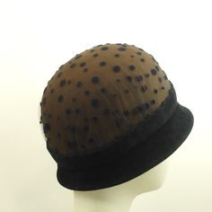 Cloche Felt Hat for Women in Black and Brown  by TheMillineryShop, $275.00