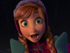 Anna from Disney's Frozen. If it ever gets down to choosing between Anna or Elsa I would die first before letting one go over the other. Her determination and straight forward demeanor with a touch of femininity caught my gaze. Yes, she's a bit psychotic and a little too trusting with strangers, but the important thing is she learned her lesson and isn't afraid of punching guys right in the face.