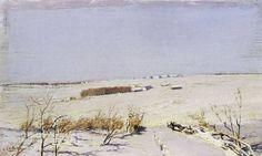 Левитан Исаак Ильич (1860-1900) Isaak Levitan Зимний день. 1880-е Дерево, масло…