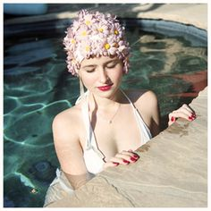 Inspiration for RVM - Aline Smithson, from the series Hollywood at Home Vintage Swim, Vintage Photos, Vintage Style, Retro Vintage, Swim Caps, Contemporary Photographers, Nautical Fashion, Bathing Beauties, Fine Art